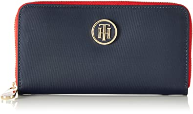Tommy Hilfiger - Poppy Lrg Za Wallet, Carteras Mujer, Azul (Tommy Navy), 2x10x19 cm (B x H T): Amazon.es: Zapatos y complementos