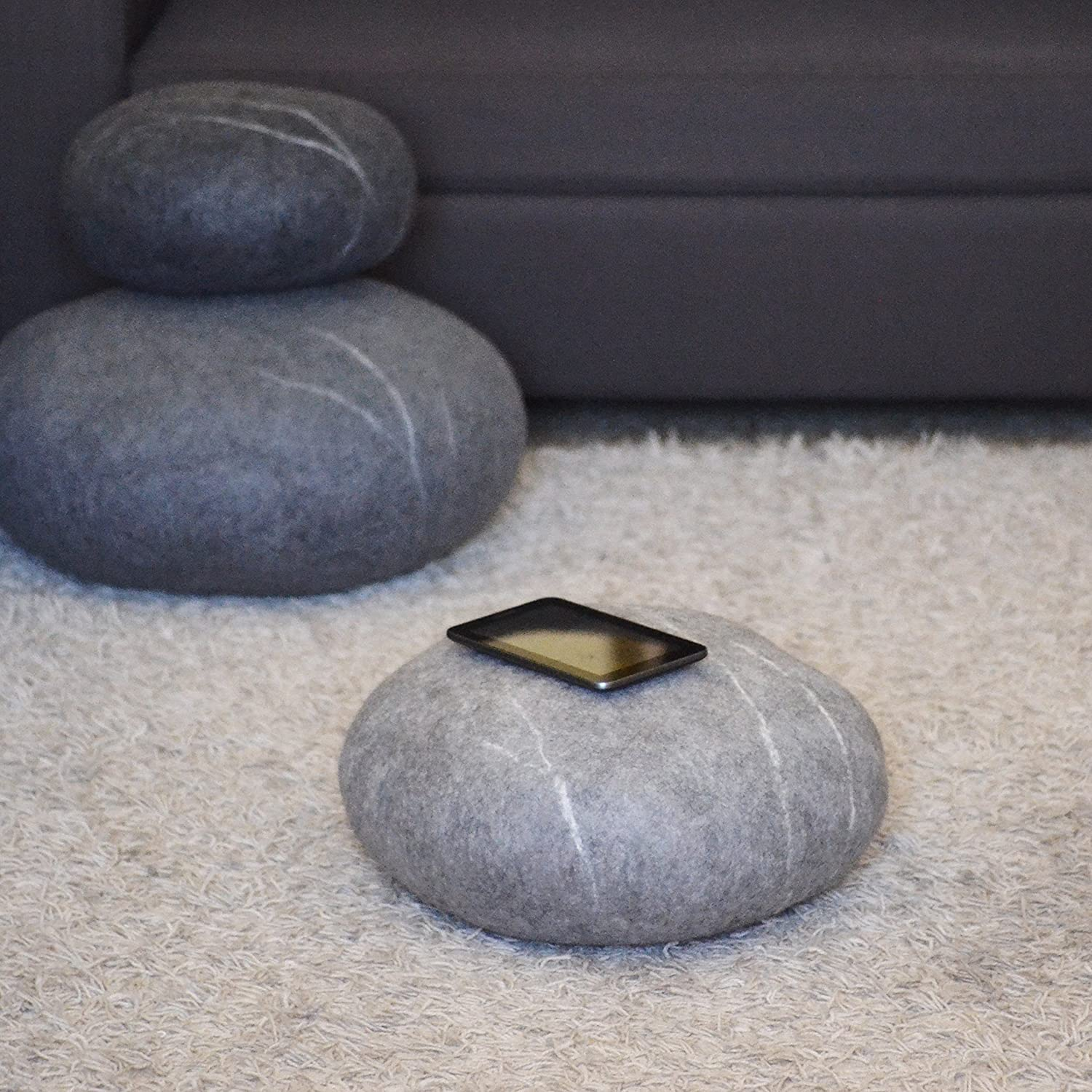 Floor Pillows Stones : Felted Wool Stones - Home Design