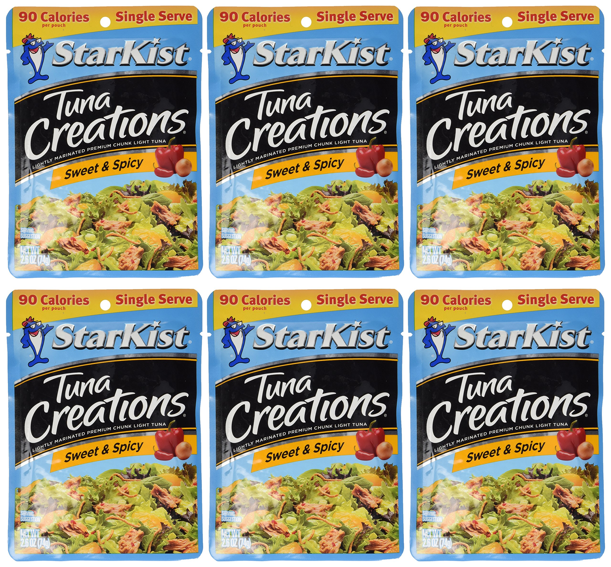 Starkist Tuna Creations, Sweet & Spicy, Single Serve 2.6-Ounce Pouch (Pack of 6)