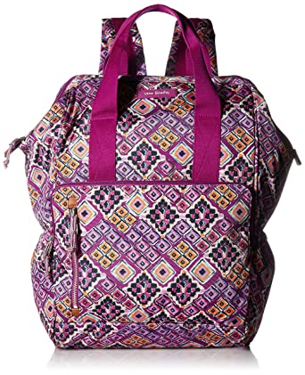 dbc427ea66d Amazon.com  Vera Bradley Lighten Up Frame Backpack, Polyester, Dream ...