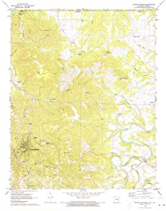"Map Poster - Eureka Springs, Arkansas (1972), 1:24000 Scale, 24""x20"", Gloss Finish"