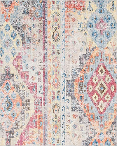 Unique Loom Basilica Collection Vintage Bohemian Traditional Colorful Multi Area Rug 8 0 x 10 0