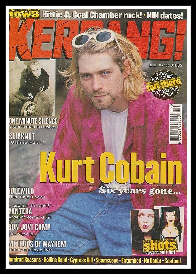 Amazon.de: Original, gerahmt, A4 Magazin Werbung Bild Kurt Cobain ...