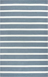 "Rizzy Home Azzura Hill Collection Polypropylene Area Rug, 7'6"" x 9'6"", Gray/Ivory"