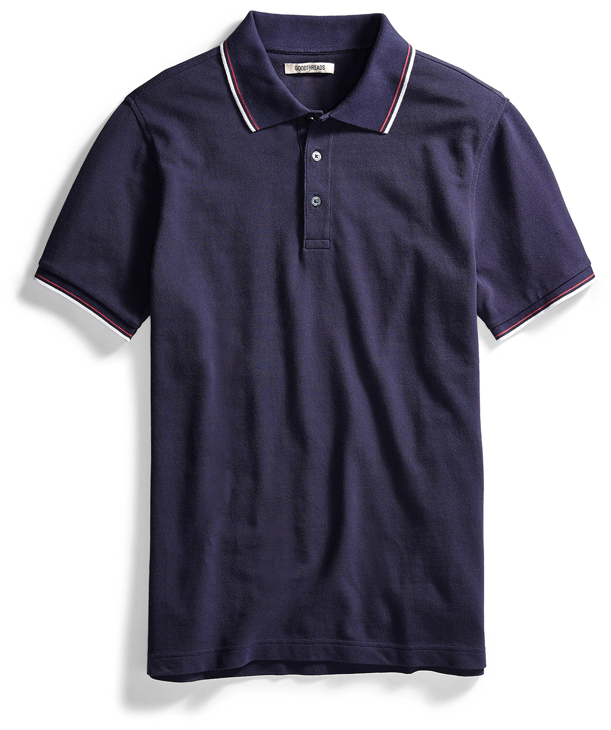 Goodthreads Men's Short-Sleeve Washed Pique Polo Shirt, Navy, X-Large