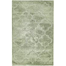 Unique Loom Trellis Shag Collection Plush Geometric Modern Moroccan Lattice Green Area Rug (5' x 8')
