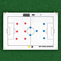 Soccer Tactics Boards | A4 Magnetic Soccer Coaches Tactics Folder | 90cm x 60cm Soccer Coaching Board | 45cm x 30cm Soccer Coaching/Tactics Board [Net World Sports]