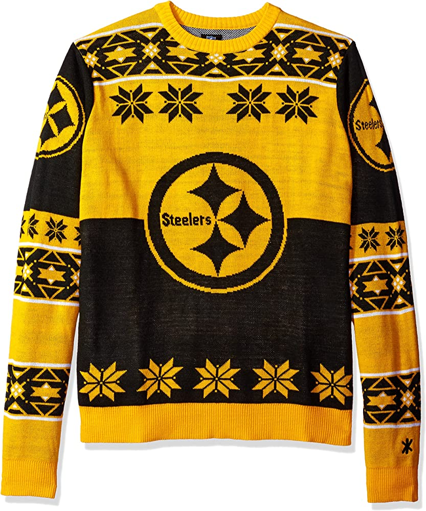 innovative design 68f7f 414fa Klew Ugly Sweater Pittsburgh STEELERS, X-Large