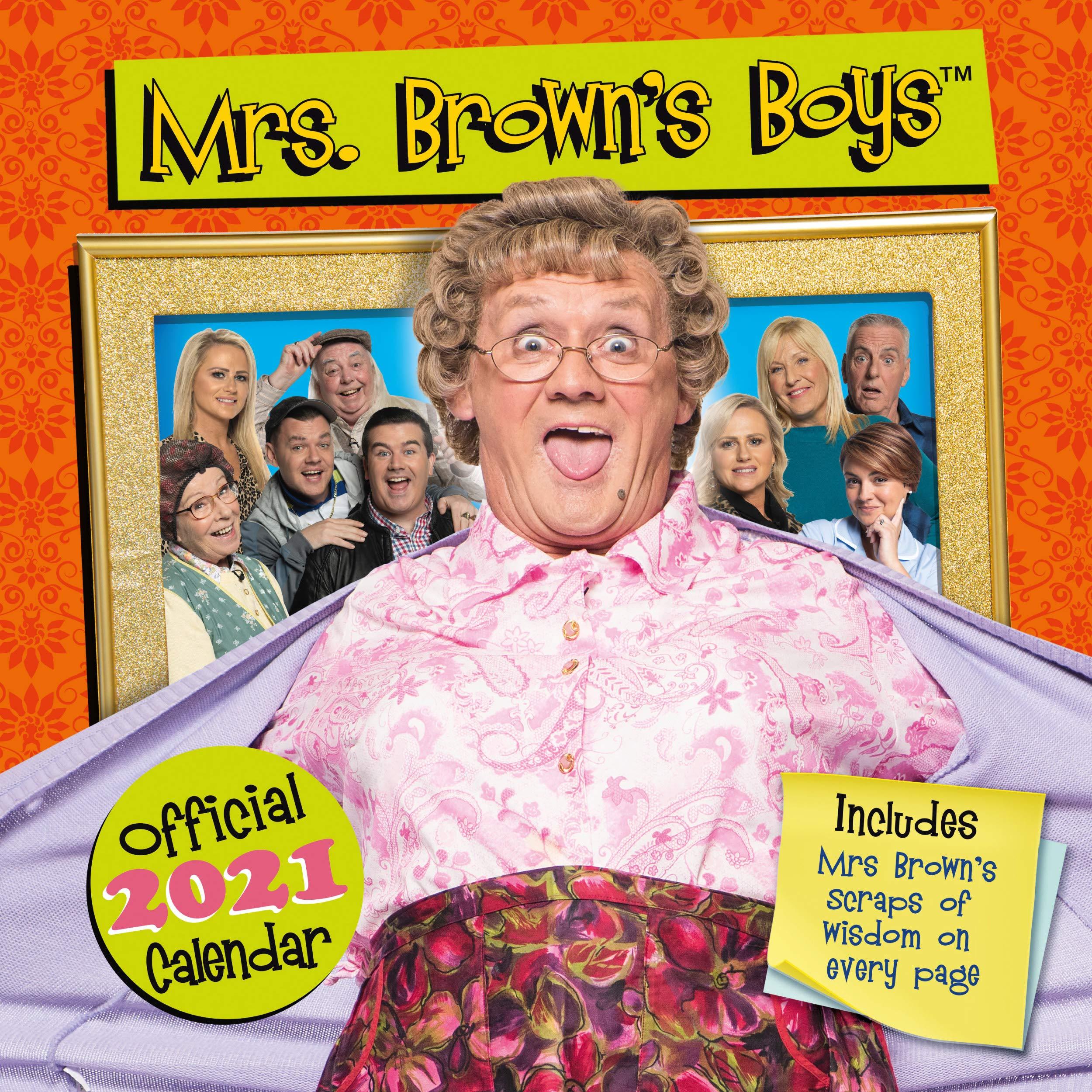 Mrs Browns Boys 2021 Christmas Special Official Mrs Brown S Boys 2021 Calendar Square Wall Format Calendar 9781838544447 Amazon Com Books