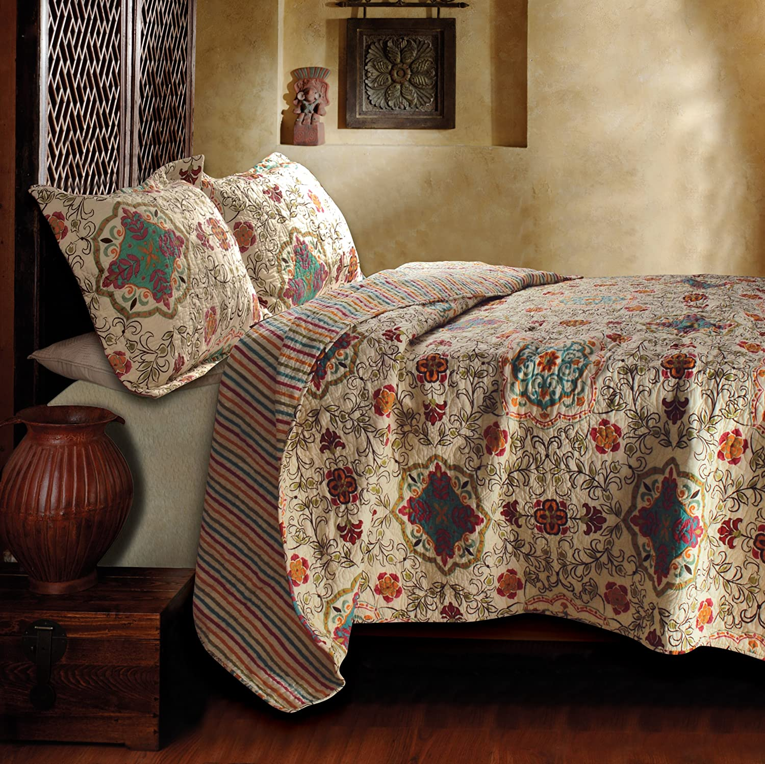 Amazon.com: Greenland Home Esprit Spice Quilt Set, Twin: Home ... : greenland quilt - Adamdwight.com