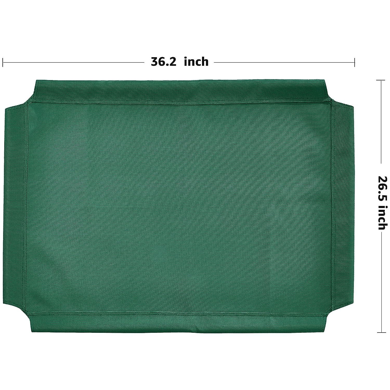 Recambio de cubierta para la cama para mascotas anticalor elevada de AmazonBasics, Mediano, Verde: Amazon.es: Productos para mascotas