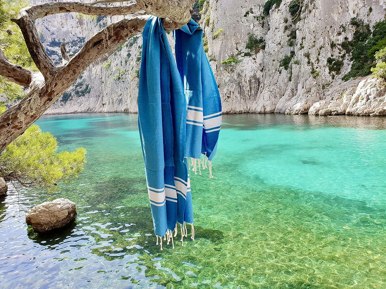 Toalla de Playa 380 g Suave Absorbente y Ligera par/éo 100/% algod/ón Amarilla Mantel Toalla Fouta Tradicional XL 100 x 200 cm Flexible Picnic sof/á Colcha