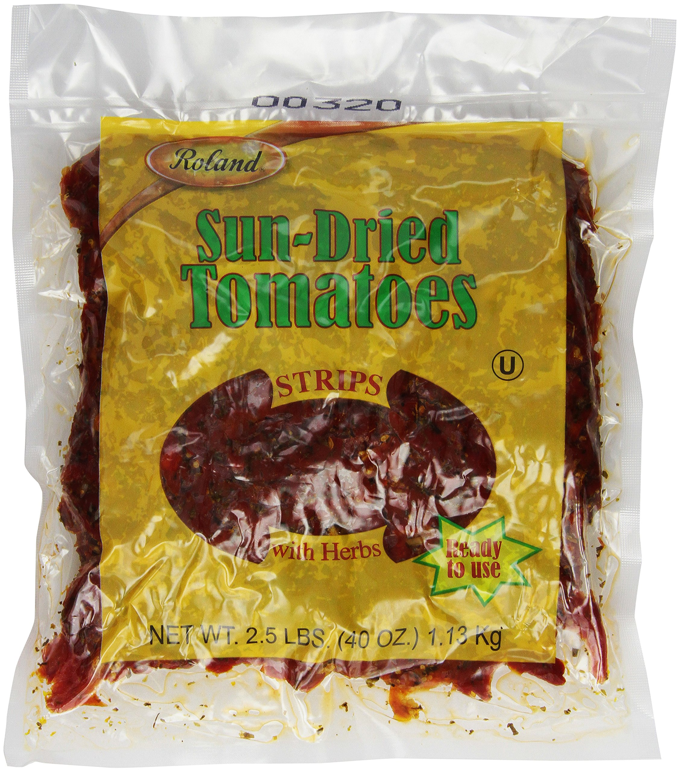 Roland Sun-Dried Tomatoes, Strips with Herbs, 2.5 Pound (Pack of 2) by Roland