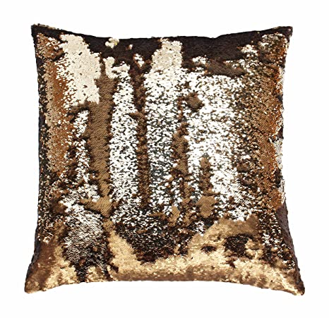 Wonderful Amazon.com: Mario Lorenz Silver Sequin Pillow: Home & Kitchen US83
