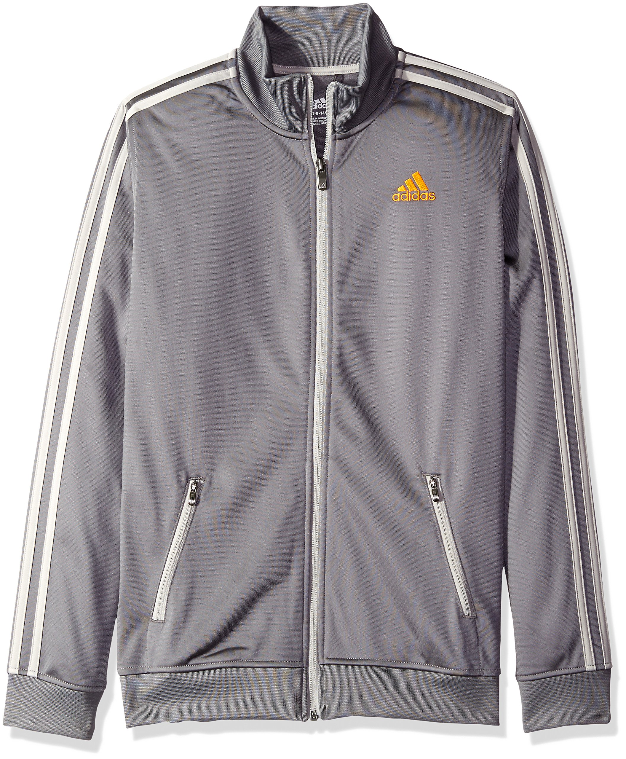 adidas Big Boys' Separates Training Track Jacket, Granite/MGH, Small/8