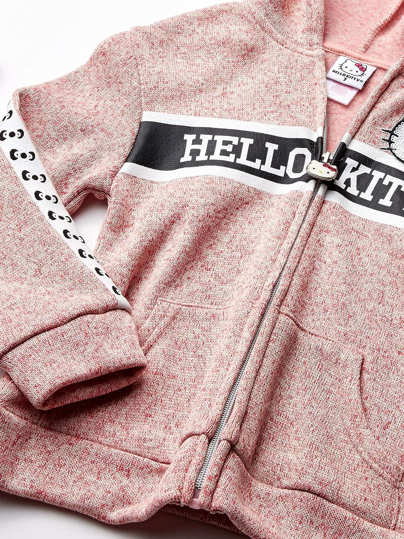 7 Pink Hello Kitty Big Girls 2 Piece Zip-up Hoodie and Pant Active Set