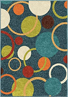 """product image for Orian Rugs Kids Court Gumball Admiral Blue Area Rug, 5'2"""" x 7'6"""", Admiral Blue"""