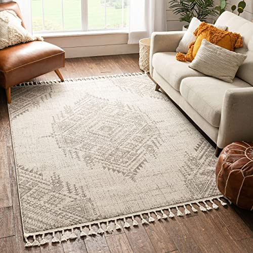 Well Woven Anita Beige Tribal Medallion Area Rug 8×10 7 10 x 10 6