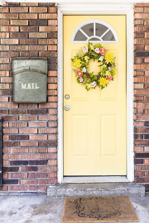 Amazon.com: AdirHome Steel Sandy Grey Old Time Rustic Door Side ...