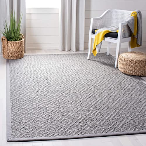Safavieh Natural Fiber Collection NF154B Light Grey and Grey Area Rug, 8 x 10