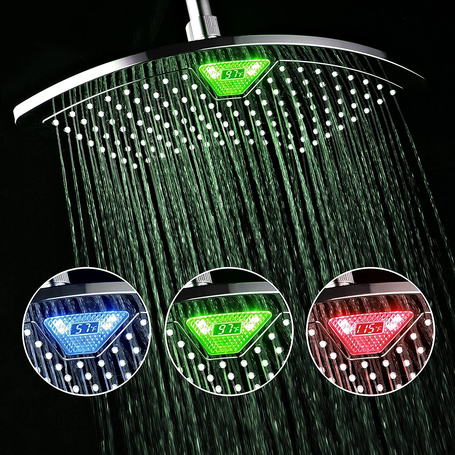 Shower Head that changes color based on the temperature of the water