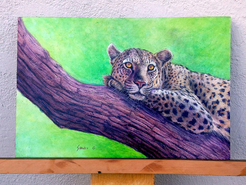 ORIGINAL PAINTING Jaguar