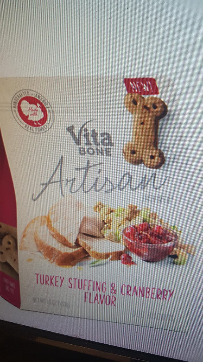 Vita Bone Turkey Stuffing Cranberry Dog Biscuit Treats, One Size delicate