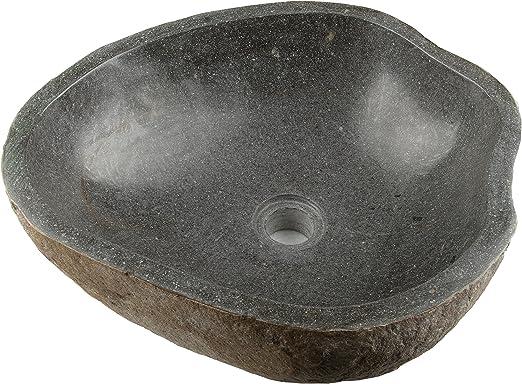 Waschbecken Stone aus Stein//Findling gefertigt #400122 LioLiving/®