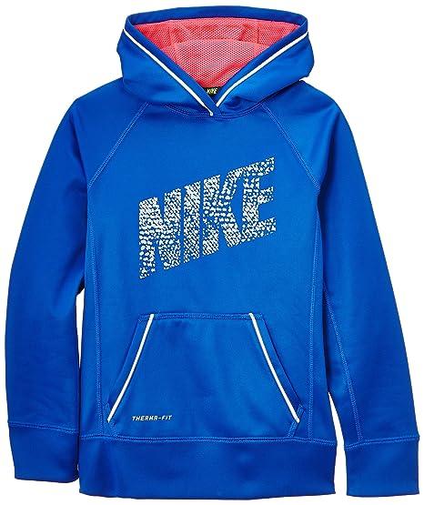 Nike Felpa con cappuccio modello da ragazza inserti catarifrangenti Blu Hy