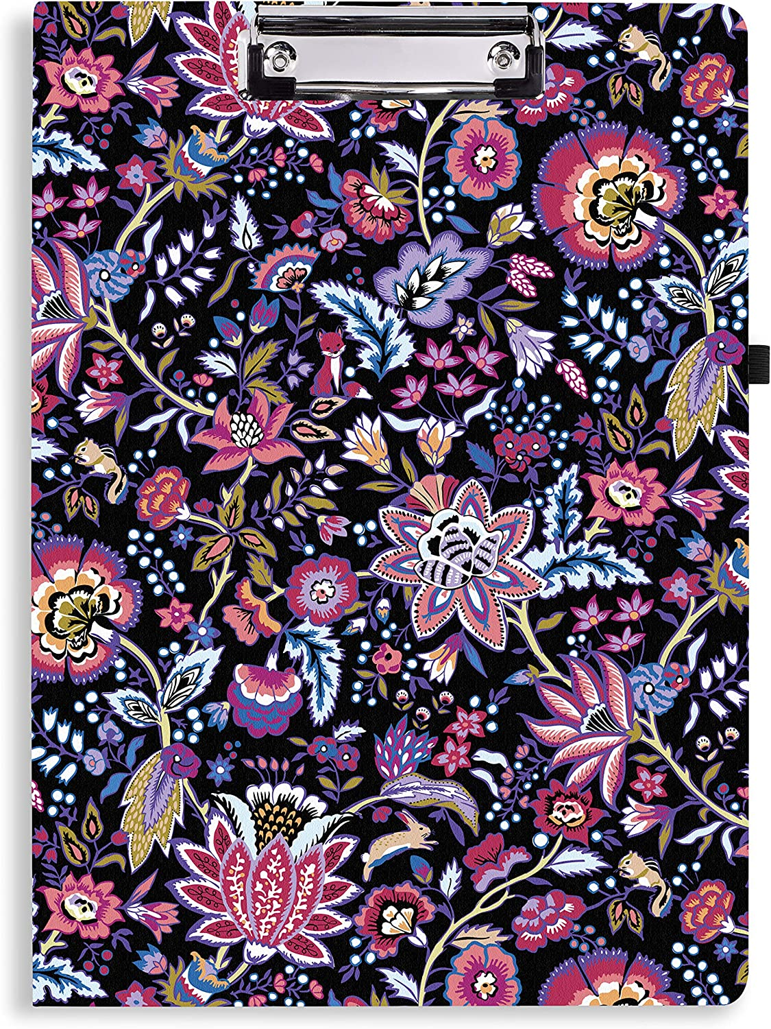 Vera Bradley Women's Clipboard Folio with Lined Notepad, Foxwood Floral
