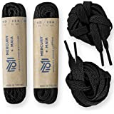 Mercury + Maia Flat Athletic Shoelaces 2 Pair Pack- Flat Shoe Laces for Sneakers & Tennis Shoes - 45 inch, 54 inch, 63 inch - Made in the USA