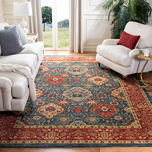 Safavieh Mahal Collection MAH655C Traditional Oriental Navy and Red Area Rug 8' x 11'