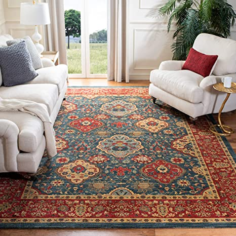 Safavieh Mahal Collection Mah655c Traditional Oriental Non Shedding Stain Resistant Living Room Bedroom Area Rug 10 X 14 Navy Red Furniture Decor