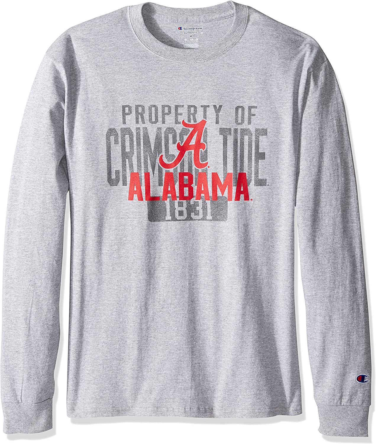 Champion NCAA Mens Long Sleeve Lightweight T-shirt Officially Licensed 100/% Cotton Tagless Tee NC State Wolfpack Large