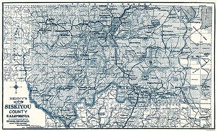 Amazon Com Old County Map Siskiyou California 1905 37 94 X 23