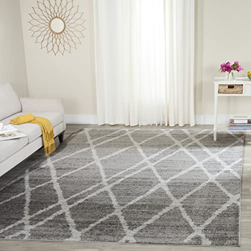 Safavieh Adirondack Collection ADR128B Ivory and Silver Vintage Area Rug 6 x 9