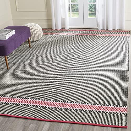 Safavieh Montauk Collection MTK820P Handmade Flatweave Light Pink and Multi Cotton Area Rug 8 x 10