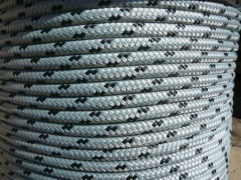 "NovaTech XLE Halyard Sheet Line Dacron Sailboat Rope 3//8/"" x 300/' White//Blue"