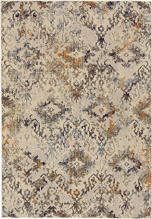 Feizy Rugs I3101 Zenith Alfombra de área, 5 pies x 8 pies, algodón/Naranja: Amazon.es: Juguetes y juegos