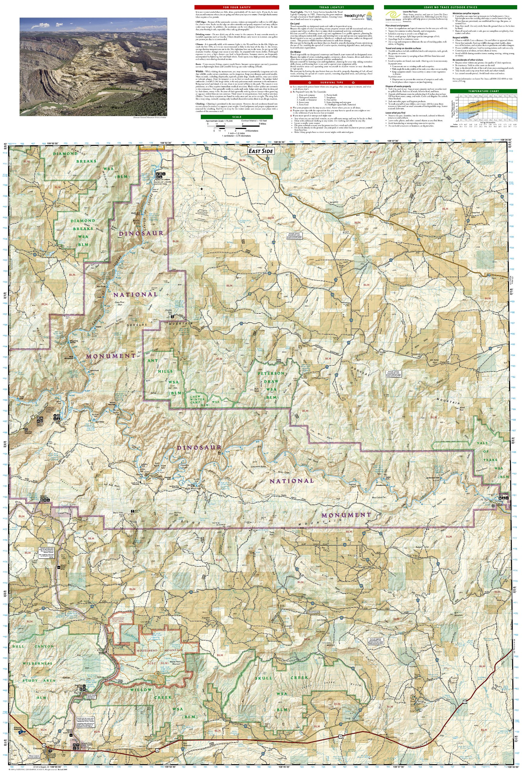 Dinosaur National Monument (National Geographic Trails Illustrated on