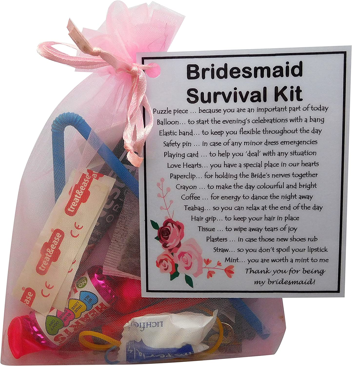 Maid of Honour Survival Kit Fun Novelty Gift
