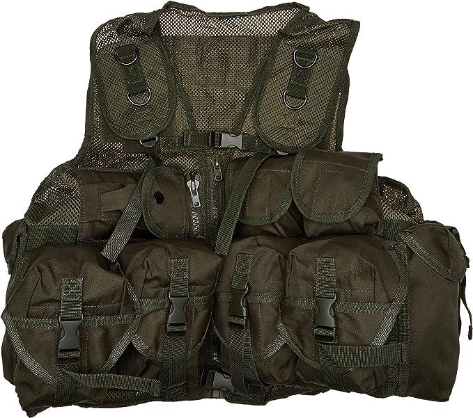 Mil-Tec Tactical Vest 9-Pockets Hunting Gear Army Carrier Webbing Mandra Night