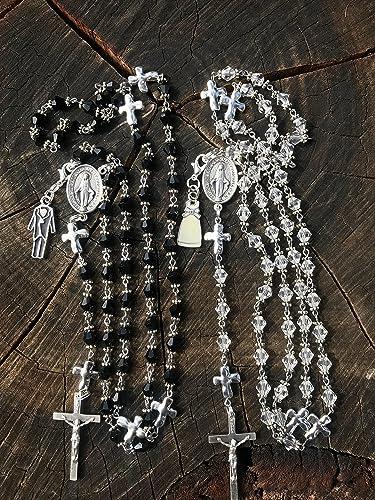 Amazon Catholic Rosary Set Matching Bride And Groom Wedding