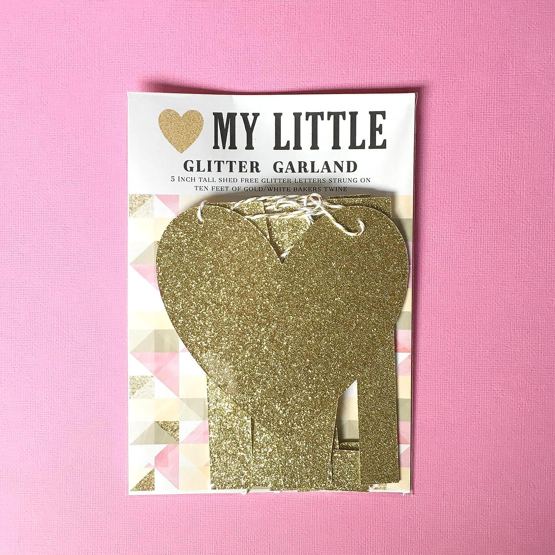 Amazon com: Gold Glitter Garland HEART (shape) MY LITTLE  Rush