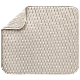 Envision Home 417701 Reversible Dish Drying Mat, Large, Cream