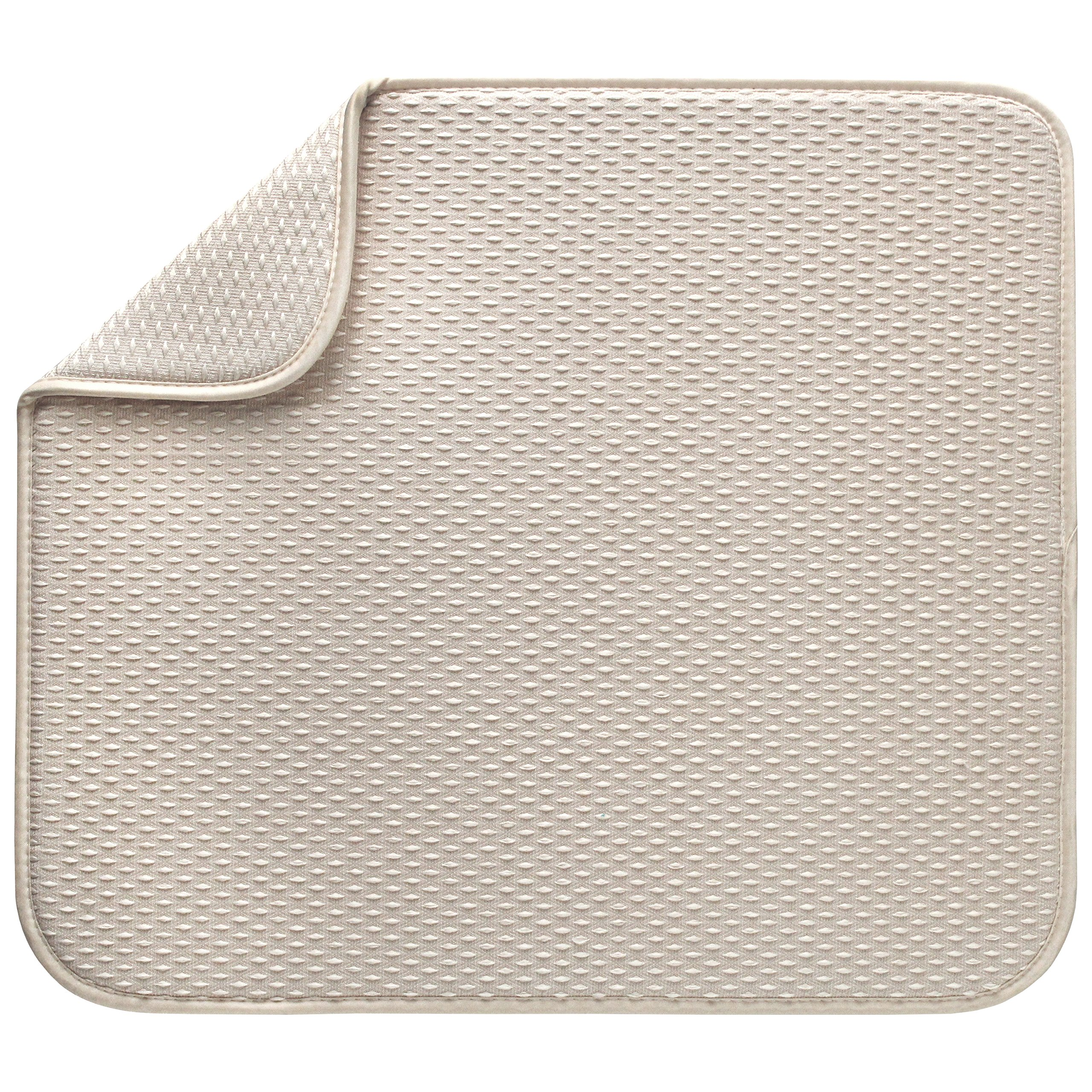Envision Home Microfiber Dish Drying Mat, 16 by 18-Inch, Cream by Envision Home