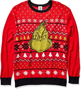 The Grinch Mens Pullover Sweatshirt