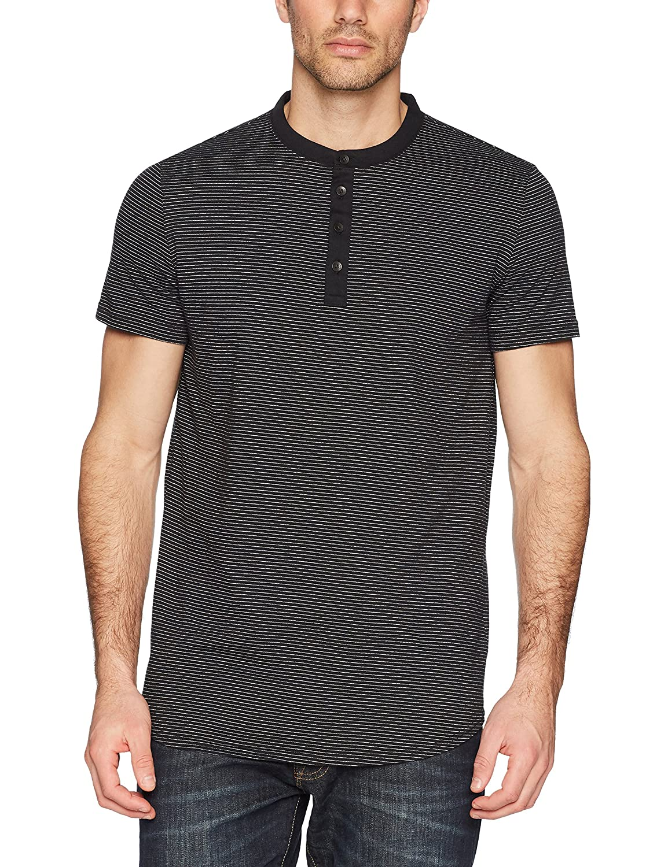Calvin Klein Mens Standard Short Sleeve Stripe Henley Arid Warms Calvin Klein Jeans 41H5859