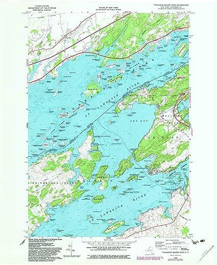 Islands New York Map on