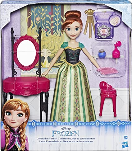 Disney Frozen Elsa and Coronation Vanity Collection Figurine Playset US Seller